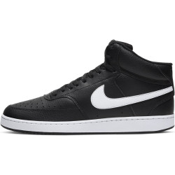 NIKE SPORTSWEAR Chaussures Court Vision Mid - Noir/Blanc
