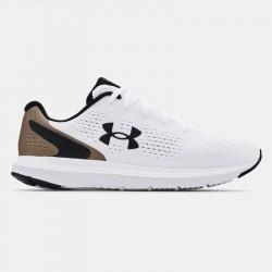 Chaussures de course pour homme Under Armour Charged Impulse - Blanc/Noir/Or - 3024136-100