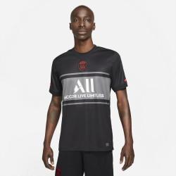 Maillot de football pour homme Nike Paris Saint-Germain 2021/22 Stadium Third - Noir/Gris foncé/Blanc/Rouge sirène - DB5900-011