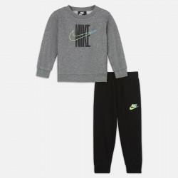 Ensemble 2 pièces (Sweat, pantalon) pour bébé (12-24 mois) Nike Sportswear Rise Fleece Taping Crew Set - Multicolore