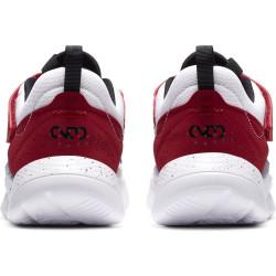 Nike Claquettes Benassi Print Just Do It Blanc/Blanc/Silver - 343881-102
