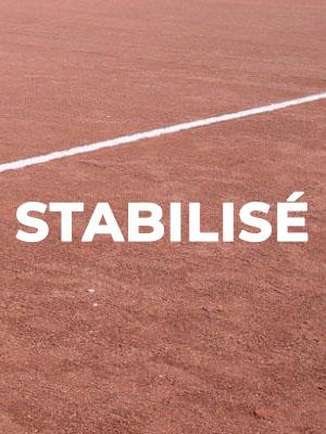 Terrain de football stabilisé