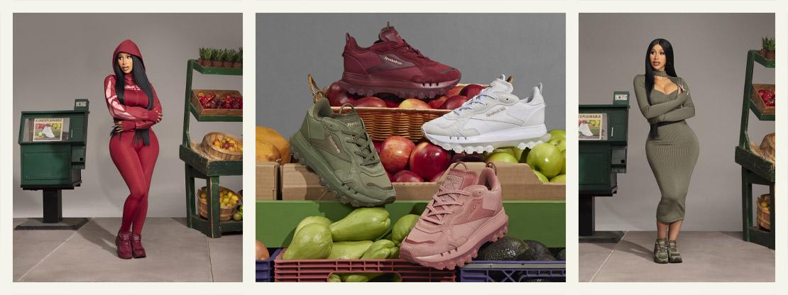Collection capsule Cardi B x Reebok | Chaussures et vêtements